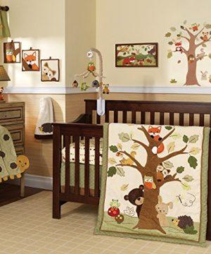 Lambs Ivy ForestWoodland 7 Piece Crib Bedding Set Echo BrownBeige 0 300x360