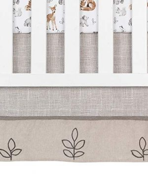 Lambs Ivy Painted Forest 4 Piece Crib Bedding Set Gray Beige White 0 4 300x360