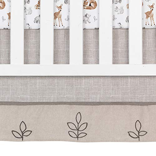 Lambs Ivy Painted Forest 4 Piece Crib Bedding Set Gray Beige White 0 4