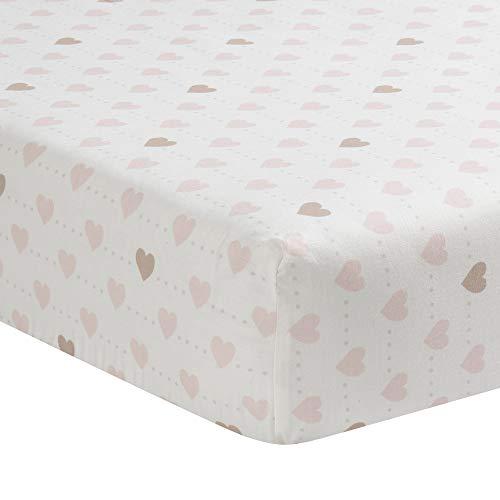 Lambs Ivy Sweetheart 3 Piece Crib Bedding Set Pink Gold White Love 0 1