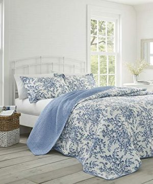 Laura Ashley Bedford Cotton Reversible Quilt Set King 0 300x360