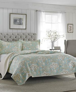 Laura Ashley Brompton Serene Reversible Quilt Set King 0 300x360