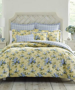 Laura Ashley Cassidy Comforter Set FullQueen Pastel Yellow 0 300x360