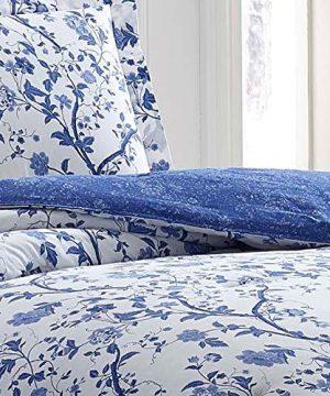 Laura Ashley Charlotte Comforter Set King Blue 0 1 300x360