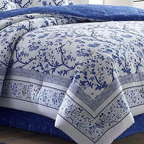 Laura Ashley Charlotte Comforter Set King Blue 0 2