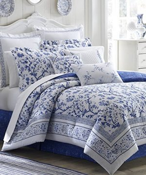 Laura Ashley Charlotte Comforter Set King Blue 0 300x360