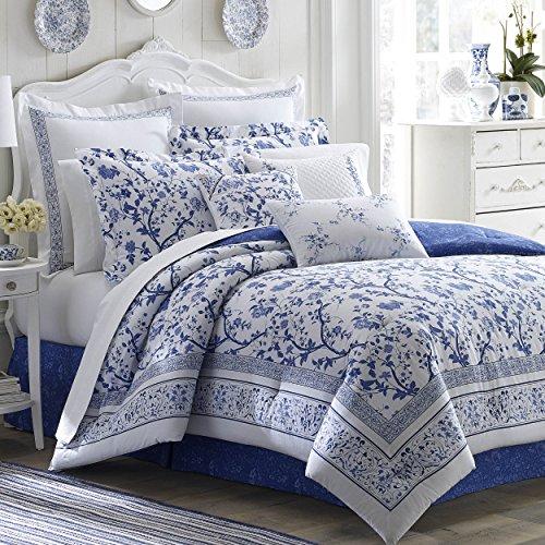 Laura Ashley Charlotte Comforter Set King Blue 0