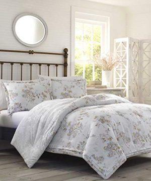 Laura Ashley Lorene Comforter Set King Natural 0 0 300x360