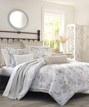 Laura Ashley Lorene Comforter Set King Natural 0 300x360