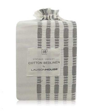 Lausonhouse Cotton Duvet Cover Set100 Cotton Yarn Dyed Stripe Duvet Cover Set3 Pieces Bedding Set King 0 2 300x360