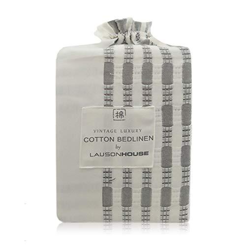 Lausonhouse Cotton Duvet Cover Set100 Cotton Yarn Dyed Stripe Duvet Cover Set3 Pieces Bedding Set King 0 2