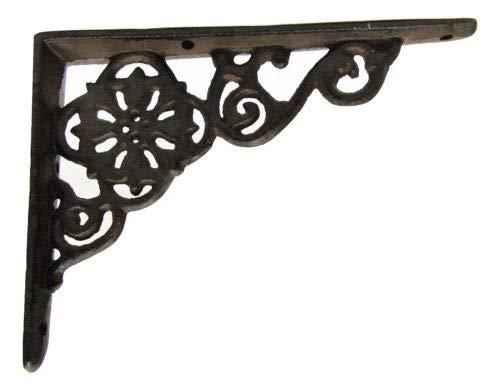 LotSet Of 6 Antique Style Cast Iron SMALL 6 14 X 4 12 SHELF BRACKETS Hangers Braces 0 2