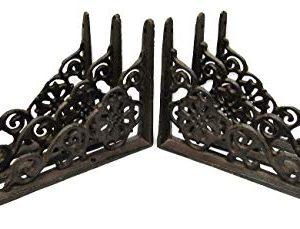 LotSet Of 6 Antique Style Cast Iron SMALL 6 14 X 4 12 SHELF BRACKETS Hangers Braces 0 300x229