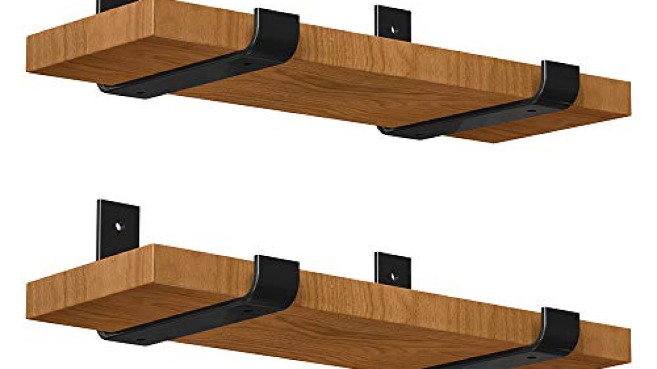 luckin heavy duty shelf bracket 8 inch rustic black wall bracket for floating shelf forged steel shelf bracket 4 pack