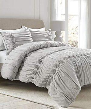 Lush Decor Darla 3 Piece Comforter Set King Light Gray 0 0 300x360