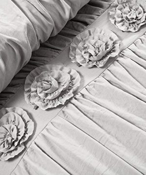 Lush Decor Darla 3 Piece Comforter Set King Light Gray 0 1 300x360