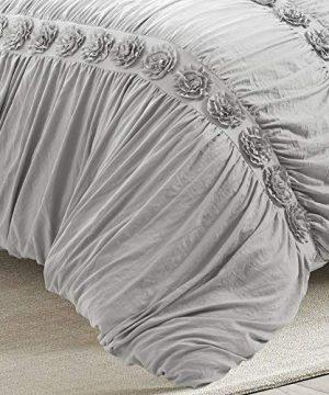 Lush Decor Darla 3 Piece Comforter Set King Light Gray 0 3 300x360