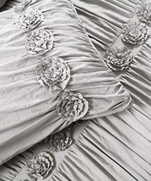 Lush Decor Darla 3 Piece Comforter Set King Light Gray 0 4 300x360