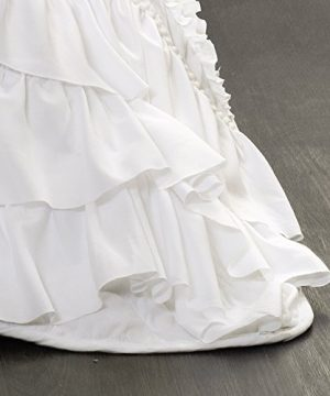 Lush Decor Kemmy Quilt Ruffled Textured 3 Piece King Size Bedding Set White 0 2 300x360