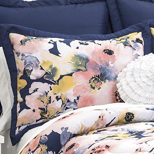 Lush Decor Lush Dcor Floral Watercolor 7 Piece Comforter Set FullQueen 0 0 0
