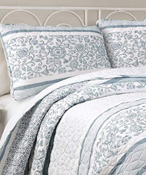 Lush Decor Nisha 3 Piece Quilt Set FullQueen Blue 0 2 300x360