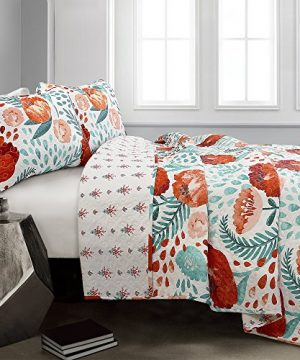 Lush Decor Poppy Garden 3 Piece Quilt Set King Multicolor 0 0 300x360