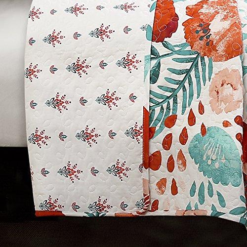 Lush Decor Poppy Garden 3 Piece Quilt Set King Multicolor 0 1