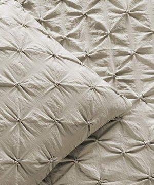 Lush Decor Wheat Ravello Shabby Chic Style Pintuck 5 Piece Comforter Set With Pillow Shams King 0 1 300x360
