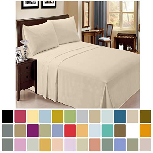 LuxClub 6 PC Sheet Set Bamboo Sheets Deep Pockets 18 Eco Friendly Wrinkle Free Sheets Hypoallergenic Anti Bacteria Machine Washable Hotel Bedding Silky Soft Cream Queen 0 0