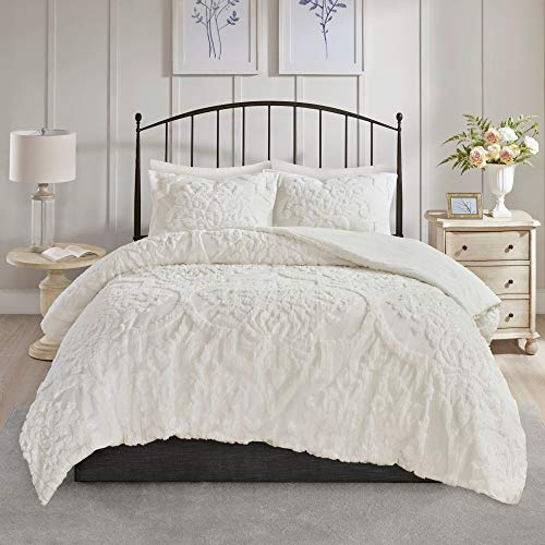 Misc Cream Chenille Comforter King Cal King Set Tufted Bedding