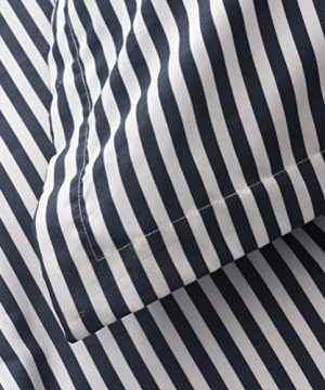 MMeagle Lightweight Microfiber Duvet Cover Grey BlueNavy Stripe Printed Pattern Bedding Sets With Zipper And Corner Ties For Women Mens Bedroom Queen Size3Pcs1 Duvet Cover2Pillowcases 0 1 300x360