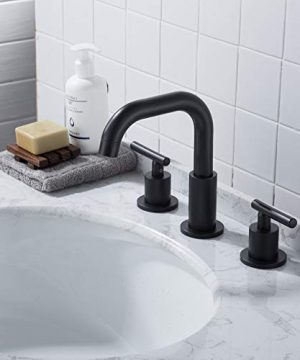 MYHB SH001H 2 Handle 8 Inch Widespread Bathroom Faucet For 3 Hole Sink Matte Black 0 1 300x360