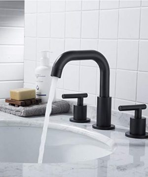 MYHB SH001H 2 Handle 8 Inch Widespread Bathroom Faucet For 3 Hole Sink Matte Black 0 2 300x360