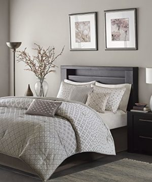 Madison Park MP10 1736 Biloxi Comforter Set King Silver 0 300x360