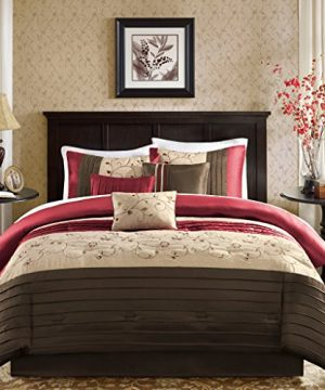 Madison Park MP10 308 Serene Comforter Set King Brick Red 0 300x360