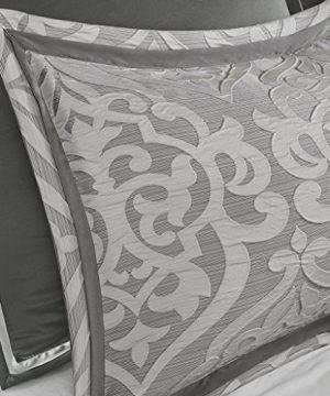 Madison Park Odette 8 Piece Jacquard Bedding Comforter Set With Damask Stria King Silver 0 2 300x360