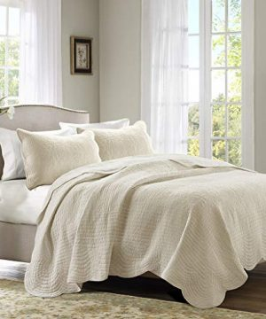 Madison Park Tuscany 3 Piece Coverlet Set KingCalifornia King Ivory 0 0 300x360