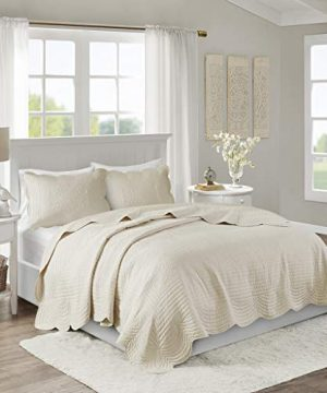 Madison Park Tuscany 3 Piece Coverlet Set KingCalifornia King Ivory 0 300x360