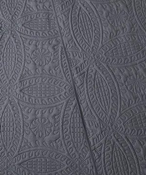 Mellanni Bedspread Coverlet Set Charcoal Comforter Bedding Cover Oversized 3 Piece Quilt Set KingCal King Gray 0 3 300x360