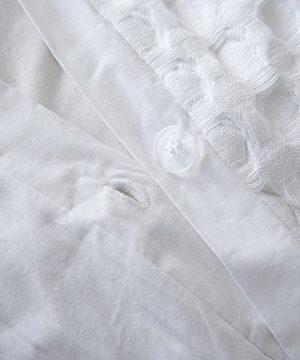 Merryfeel 100 Cotton Waffle Weave Duvet Cover Set FullQueen White 0 3 300x360
