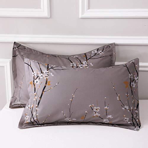 NANKO King Comforter Set 3 Pc 104x90 Gray Pastel Floral Flower Print Soft Microfiber Bedding All Season Quilted Comforter With 2 Pillowshams Farmhouse Bed Set For Women Men 0 4