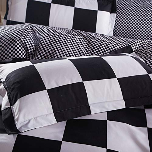 Buffalo Plaid Black And White Duvet, Black And White Check Queen Bedding