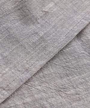 NTBAY 3 Pieces Solid Color Linen Duvet Cover Set With Exquisite Ruffles Design Breathable Grey Queen 0 3 300x360