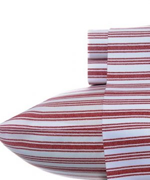 Nautica Stripe Cotton Percale Sheet Set Twin Colridge Red 0 300x360