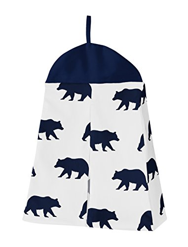 Navy Blue Gold And White Patchwork Big Bear Boy Baby Crib Bedding Set Without Bumper By Sweet JoJo Designs 4 Pieces 0 0