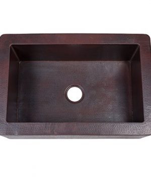 Novatto FARMHOUSE Copper Kitchen Sink Antique 0 1 300x360
