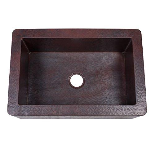 Novatto FARMHOUSE Copper Kitchen Sink Antique 0 1