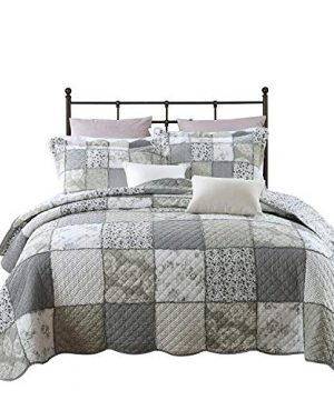 PERYOUN 3 Piece Quilt Set Pure Cotton Patchwork Bedspread Set Finely Stitched Coverlet Bed Cover Queen Size 0 300x360
