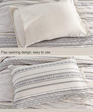 PHF Cotton Boho Yarn Dyed Duvet Cover Set Christmas Decorations Cozy Soft Home Decoration For Winter Queen Size Ivory 0 3 300x360