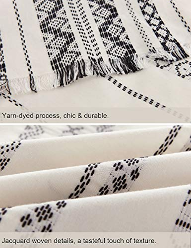 PHF Cotton Boho Yarn Dyed Duvet Cover Set Christmas Decorations Cozy Soft Home Decoration For Winter Queen Size Ivory 0 5